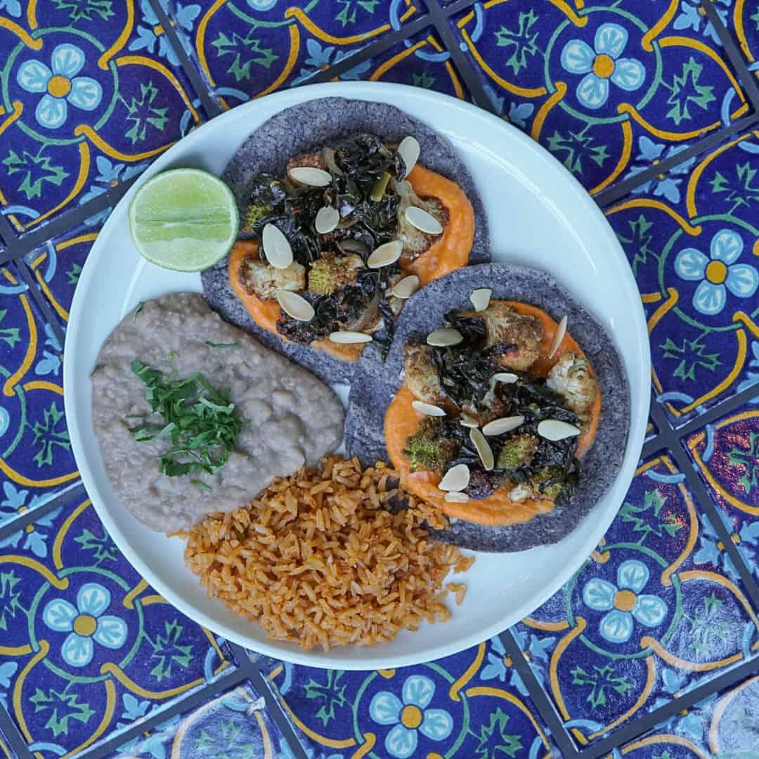 Market Veggie Taco Plate