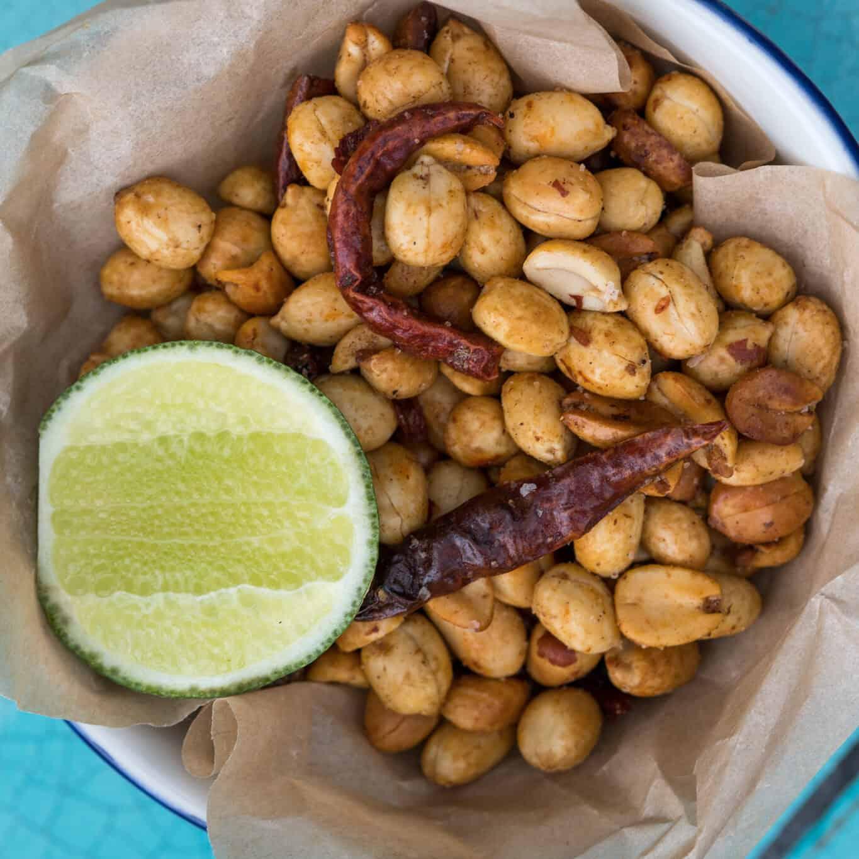 Spicy Garlic Chile Peanuts